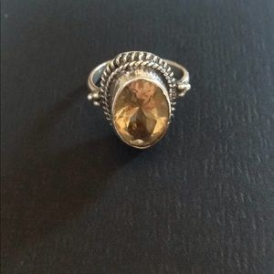 Sterling silver with citrine ring